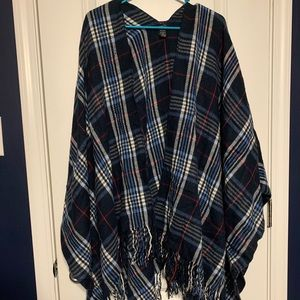 Flannel Plaid Print Shawl/Wrap